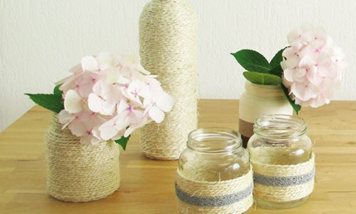 Upcycling: Glas in touw wikkelen